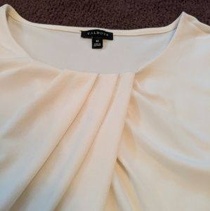 Talbots White Blouse with Ruching